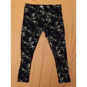 H&M Black and White Splatter Leggings